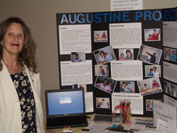 Maxine representing Augustine at the 2010 RPC Missions & Mercy Conference