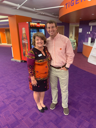 Dabo Swinney and Denise Ruby